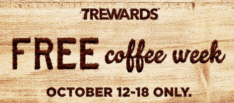 Free ANY Size Coffee at 7-Eleven Stores (10/12-18)