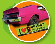 Free I Love Biggby Coffee Bumper Sticker