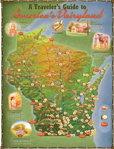 Free Traveler's Guide to America's Dairyland Cheese Tour Map