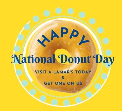 Free Donut at LaMar's Donuts (6/6)
