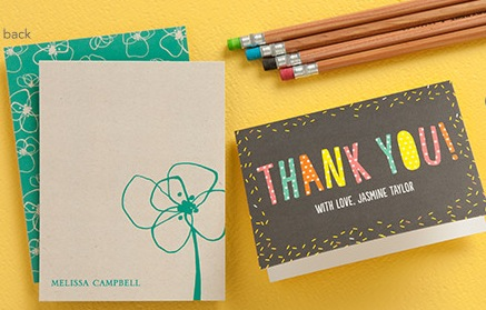3 Free Stationery Samples from Tiny Prints