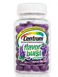 Free Centrum Flavor Burst Chews Sample