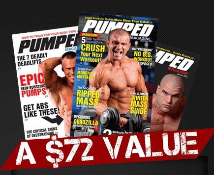 1 Free Issue of Pumped Body Building Magazine