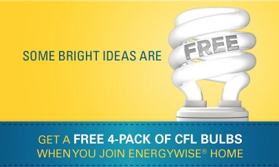 Free 4-pack of CFL Bulbs + Free Tote for Progress Energy Customers (NC & SC)