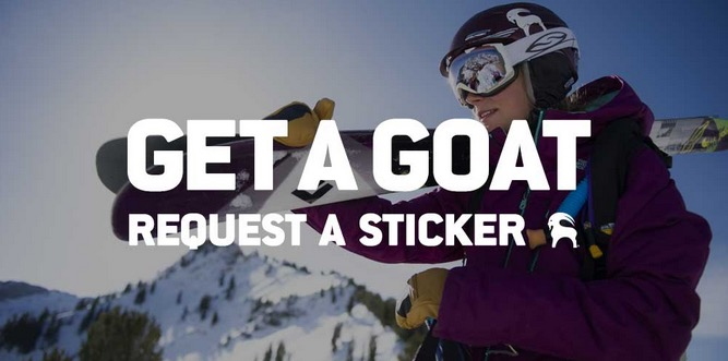 Free Backcountry Colored Goat Sticker