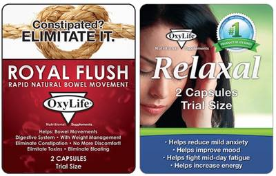 Free OxyLife Nutritional Supplement Samples