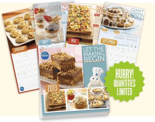 Free 2013 Pillsbury Calendar (Pillsbury members)