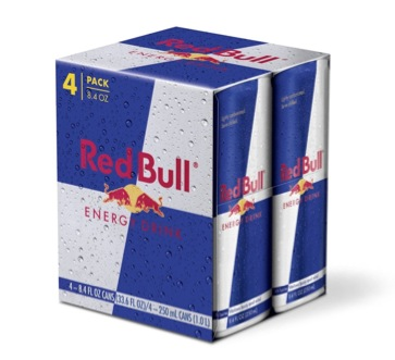 Complimentary Red Bull 4-pack for College Students (twitter)