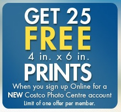 25 Free 4x6 Photo Prints from Costco