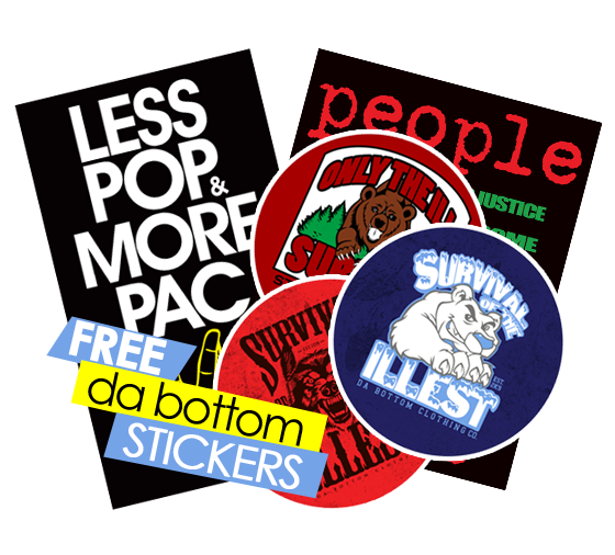 Free Stickers from Da Bottom Clothing