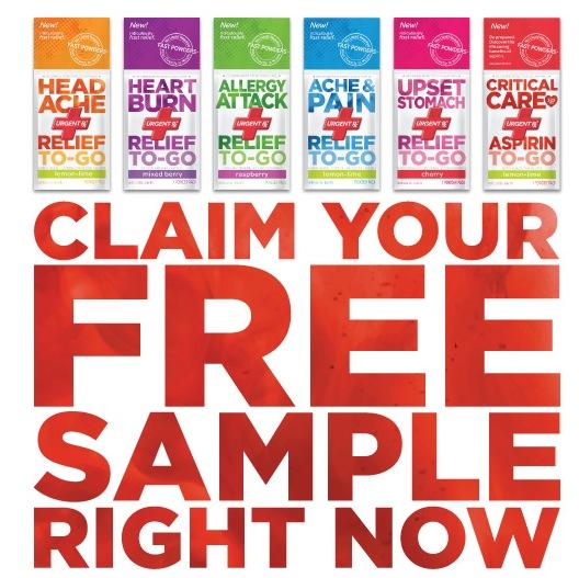 Free UrgentRx Relief To-Go Sample (fb)
