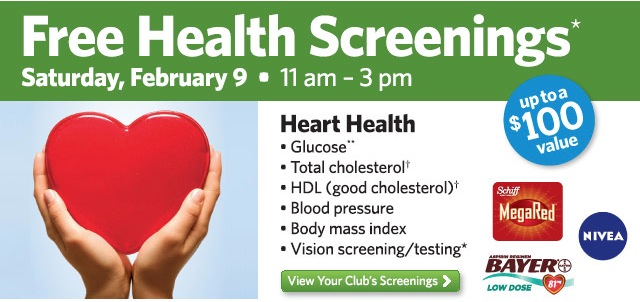 Free Health Screenings at Sam's Club