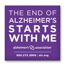 Free The End of Alzheimer's Starts with Me Sticker