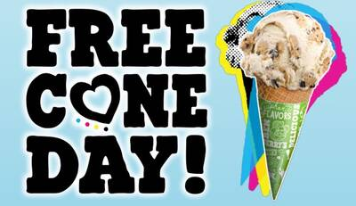 Free Cone Day at Ben & Jerry's (4/10)