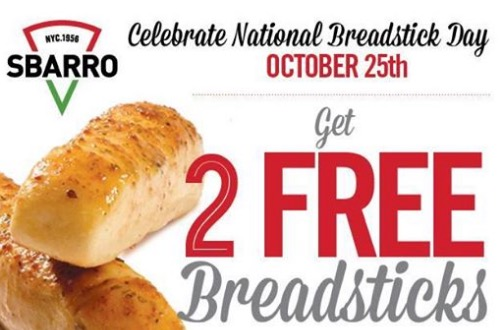 Free Breadsticks at Sbarro (fb)