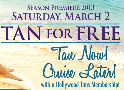 Free Tanning Day at Hollywood Tans