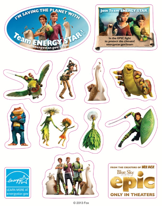 Free Epic Movie Stickers and Activity Booklet