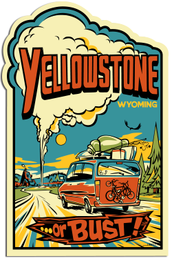 Free Yellowstone Sticker and Wyoming Travel Guide