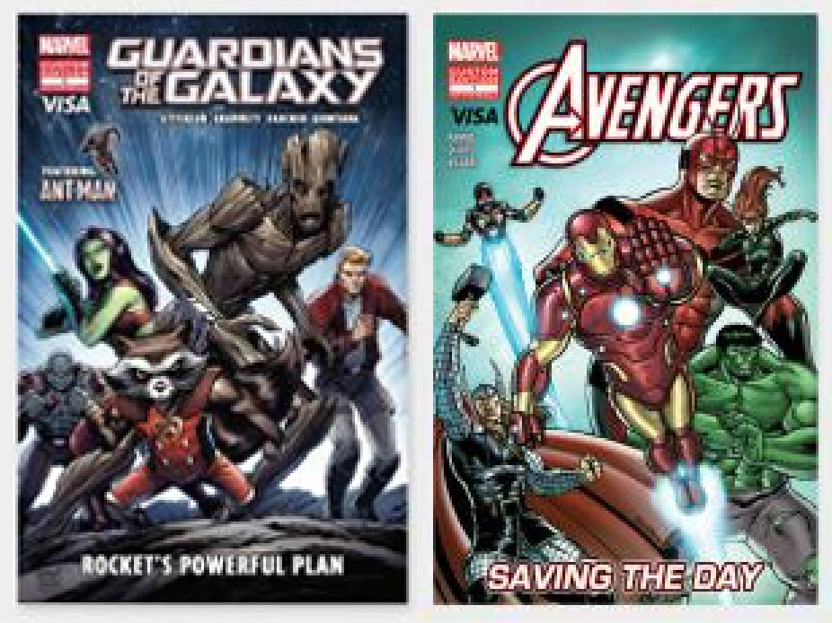 2 Free Comic Books: Marvel's Avengers Saving the Day and Guardians of the Galaxy