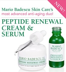 Free Mario Badescu Peptide Renewal Cream and Serum Sample