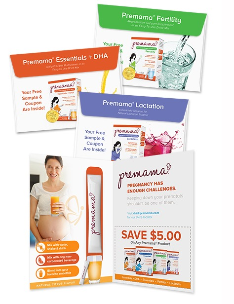 Free Sample Package of Premama Prenatal Vitamin Mix