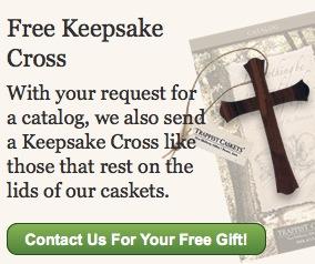Free Keepsake Cross from Trappist Caskets
