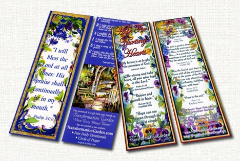Free Gift Bookmark From Transformation Garden (Religious)
