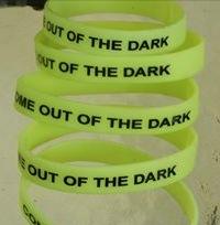 Free Glow-in-the-dark Depression Awareness Wristbands