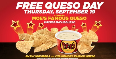 Free Queso at Moe's