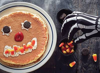 Free Scary Face Pancake at IHOP (10/31, Kids Only)