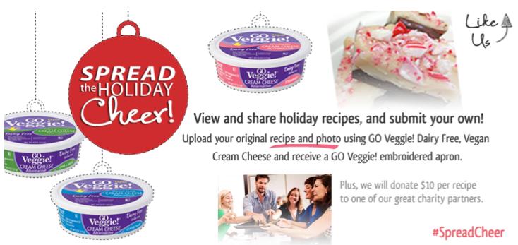 Free GO Veggie! Apron (fb, submit recipe)