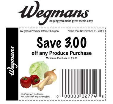 Free Produce At Wegmans Stores