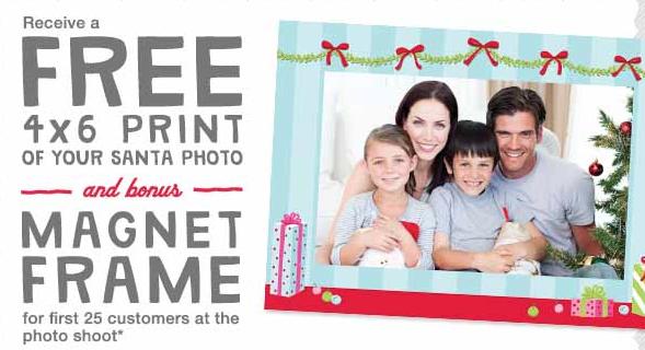 Free 4x6 Print Santa Photo And Magnet Frame At Walgreens