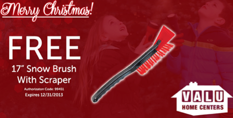 Free Snow Brush At Valu Home Centers