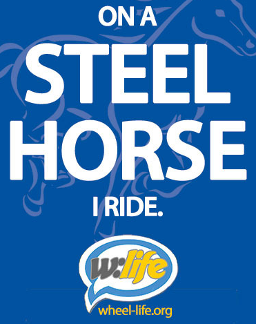 Free Wheel Life On A Steel Horse I Ride Sticker