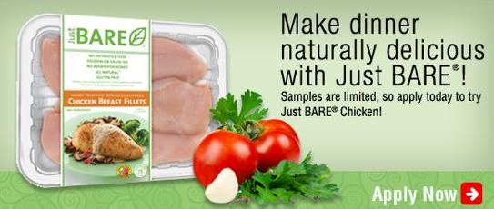 Free Just BARE Chicken (apply, Mom Ambassadors)