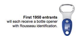 Free Rousseau Bottle Opener (fb)