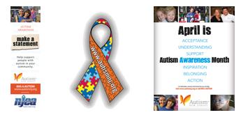 Free Autism Awareness Bookmark, Temporary Tattoo, Poster And Pin Up