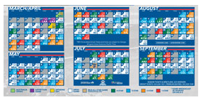 Free Dodgers Pocket Schedules