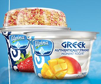 Free Alpina Greek Yogurt or Alpina Greek With Granola (Fb)