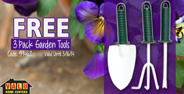 Free 3 Pack of Garden Tools at Valu Home Centers (Fb)