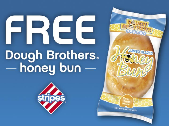 Free Dough Brothers Honey Bun at Stripes