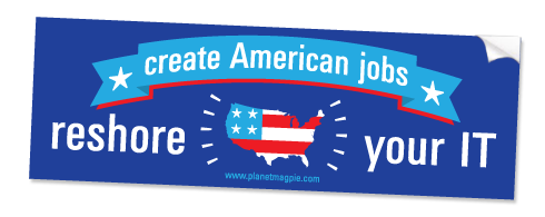 Free Reshore Your IT Bumper Sticker