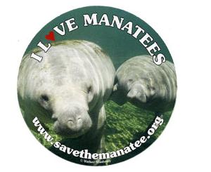 Free I Love Manatees Sticker