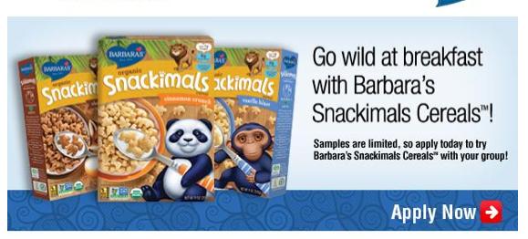Free Barbara's Snackimals Cereals (Apply, Mom Ambassadors)