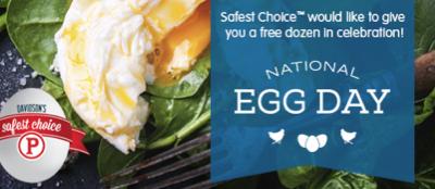 Free Dozen of Davidson's Safest Choice Pasteurized Eggs