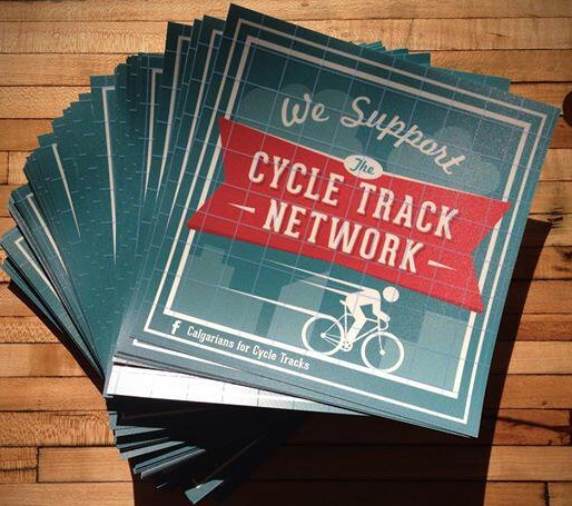 Free We Support the Cycle Track Network Sticker