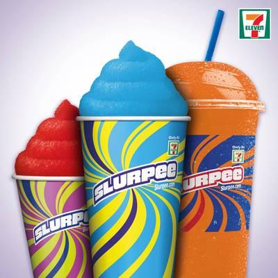 Free Slurpee at 7-Eleven (text)