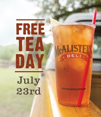 Free Tea at McAlister's (7/23)
