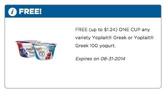 Free Yoplait Greek Yogurt at Food Lion